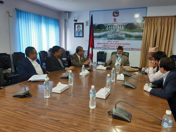 काभिड १९ नियन्त्रण तथा रोकथाम कोषमा नेपाल सुनचाँदी ब्यवसायी महासंघद्धारा रु १५ लाख रुपैयाँ सहयोग ।